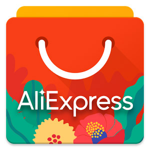 shopping bag with Aliexpress logo