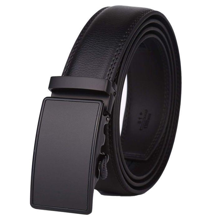 Cinturón de Cuero de Vestir para Hombres Con Trinquete Dante