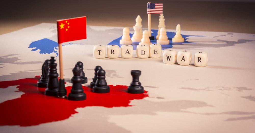 торговая война США и КНР на карте мира
