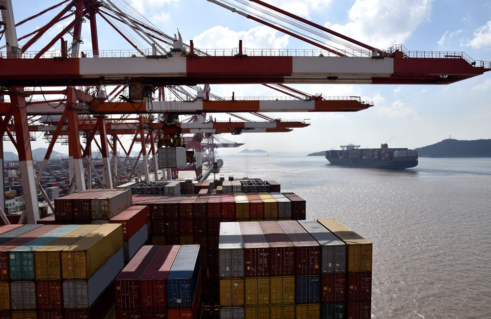 all the largest corporations of South Korea use Busan container port for export