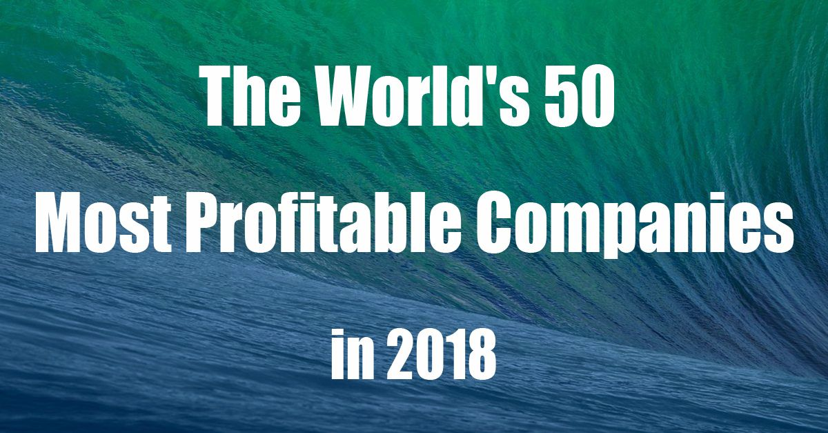 50 most profitable companies of the world in 2018