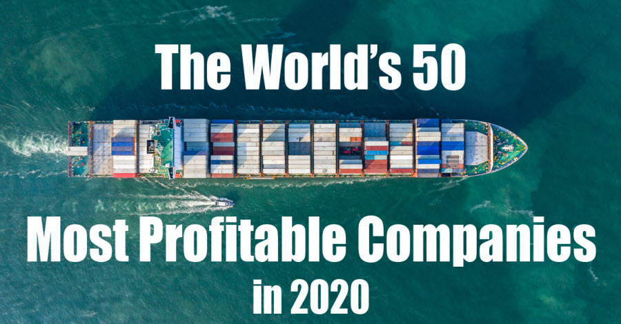 50 most profitable companies of the world in 2020