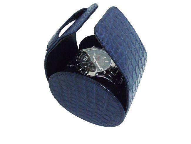 Estojos de couro de crocodilo para relógios