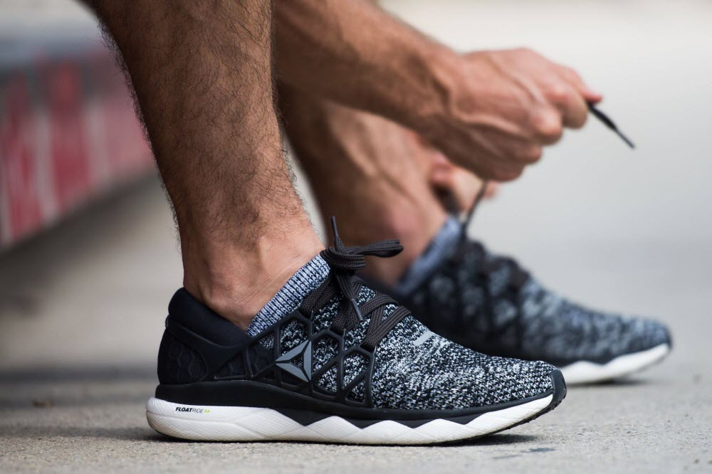 reebok sneakers are perfect for workout