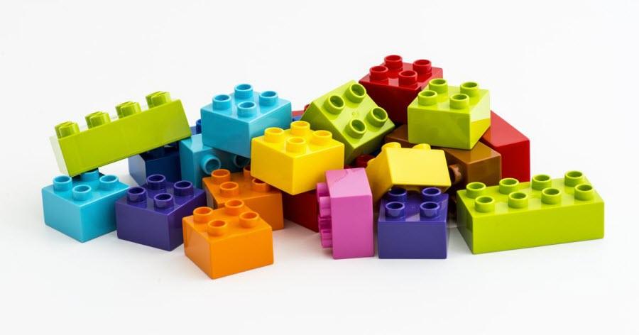 los bloques LEGO