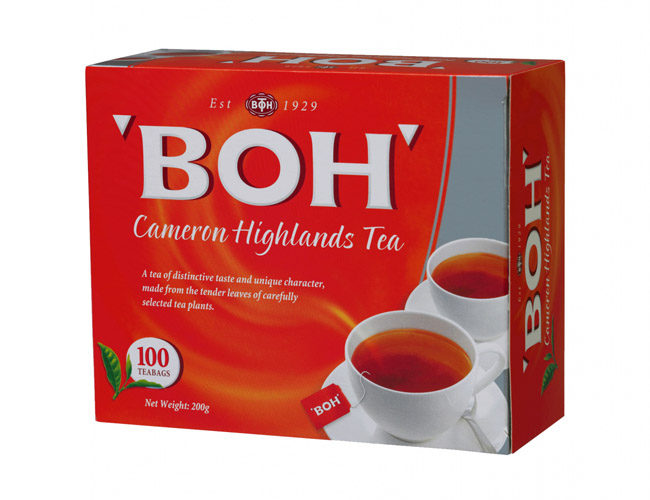 BOH Cameron Highlands Tea. Malaysia's most popular brand.