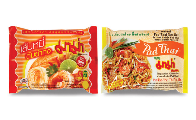 Instant Rice Vermicelli and Instant Rice Noodles with MAMA brand