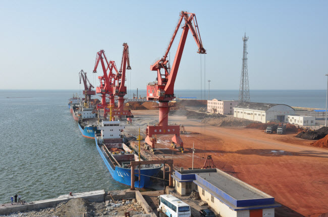 Weifang Port in Weifang, Shandong Province, China