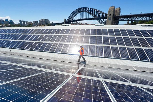 Suntech has installed solar on the Sydney Theatre Company building on beautiful Sydney Harbour