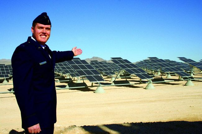 Nellis Air Force Base - 14 MW, Suntech was the largest module supplier for this solar power plant in Nevada